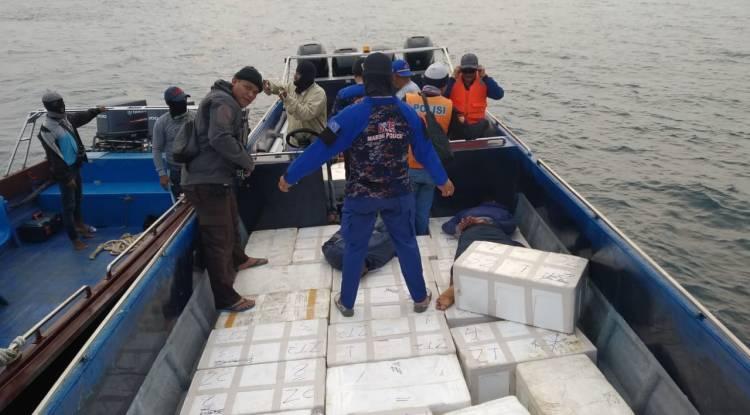 Polda Kepri berhasil Amankan Kerugian Negara senilai 66 Miliar dari kegiatan Penyelundupan Baby Lobster